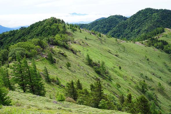 標高2000M地点から大菩薩峠方面の眺望