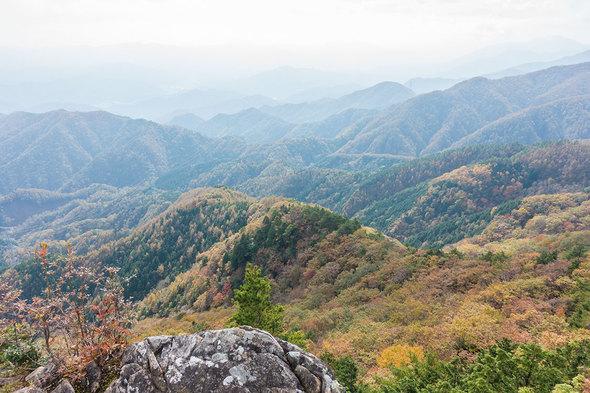 姥子山から紅葉の展望