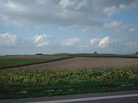 パッチワークの路からの風景