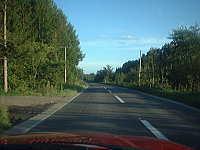 能取湖近隣の道