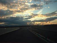 夕暮れの道東自動車道