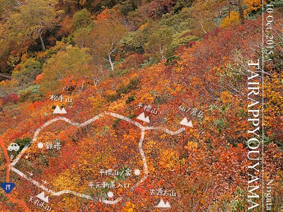 紅葉の平標山
