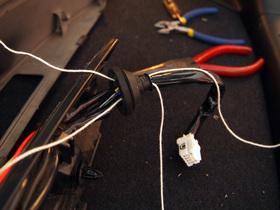 配線ゴムに2本曳き紐を通した状態