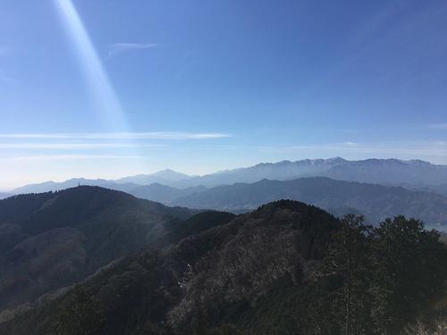 景信山から城山方面の眺望