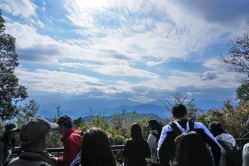 2018年11月3日(土) 高尾山頂の展望台