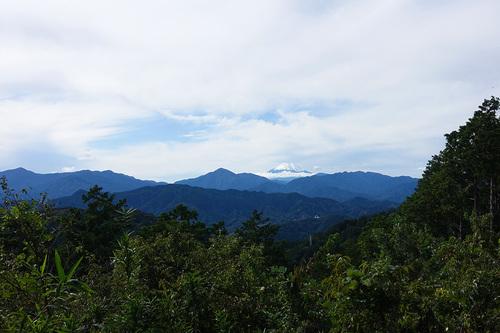 高尾山もみじ台から富士山の眺望