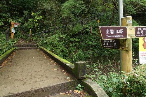 稲荷山コース出口