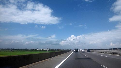 晴天の常磐道
