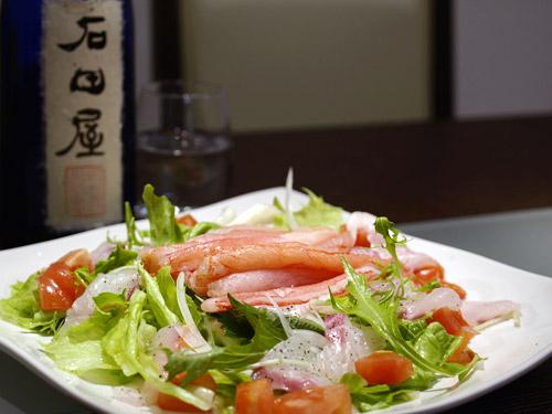 カニと日本酒