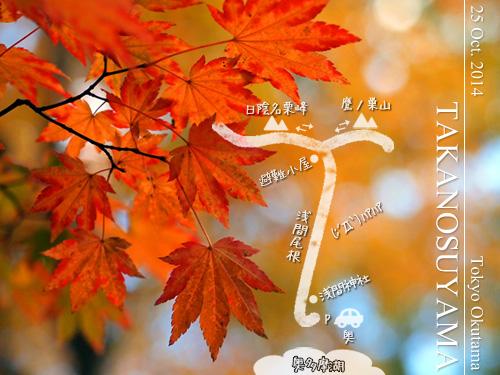 紅葉の鷹ノ巣山