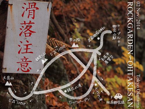 ロックガーデン~大岳山